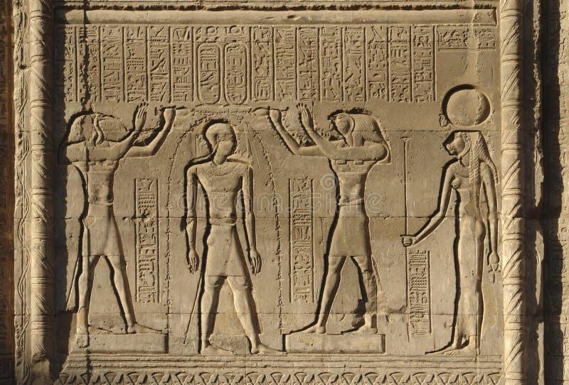 Soulagement au temple de Chnum en Egypte photo libre de droits