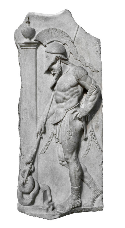 Allégement de et guerrier du grec ancien images libres de droits