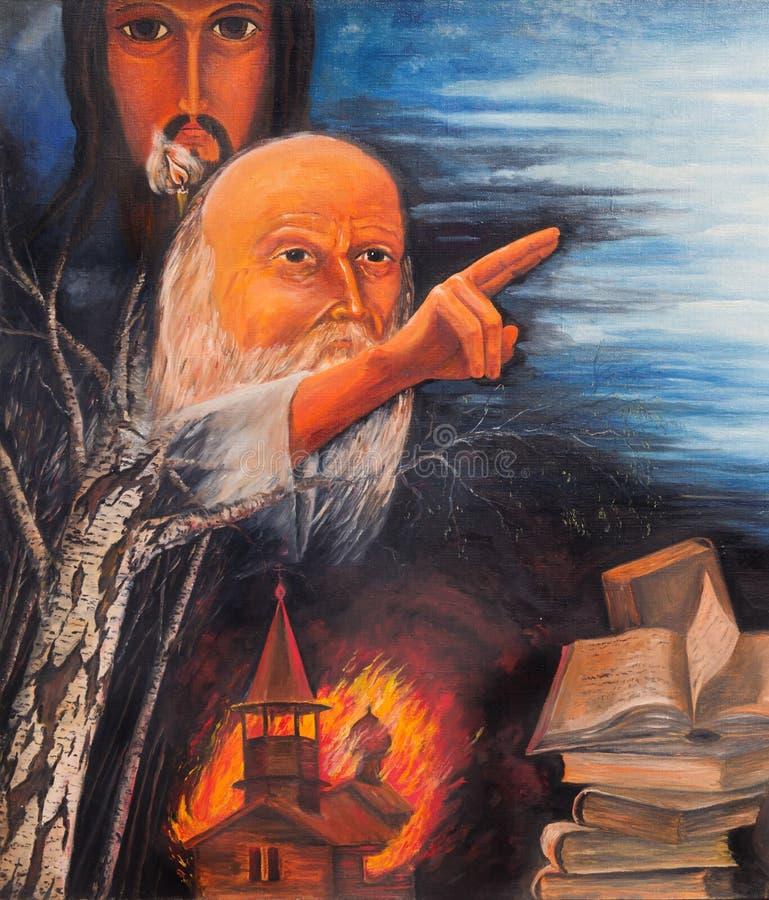 Allégorie de schisme d'église illustration stock