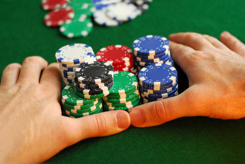 Download All in stock image. Image of casinos, gamble, hand, entertainment - 1880613