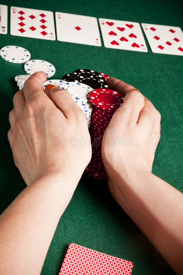 Download All-in stock photo. Image of hand, casino, player, gamble - 9882460