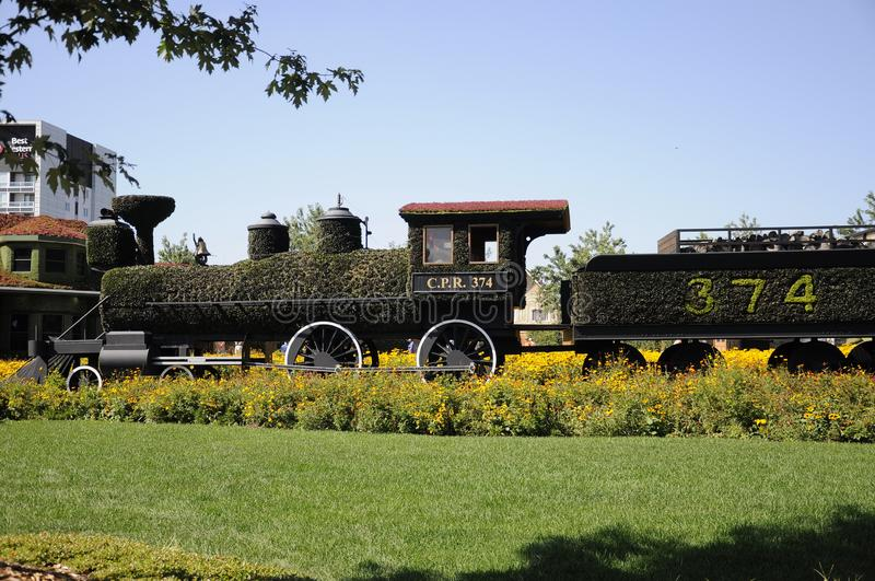 All aboard! Engine CPR 374 at MosaiCulture 2018 stock photo