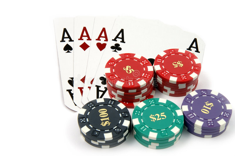 Download All In Aces stock image. Image of four, cards, flush, kind - 166129