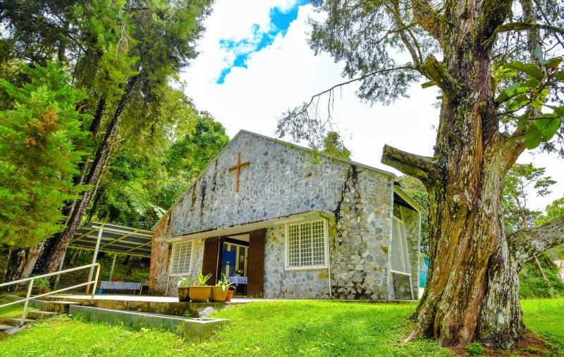 All anda`-kyrka, Cameron Highlands, Malaysia arkivbilder