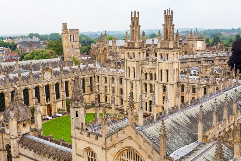 All andahögskola. Oxford UK arkivfoto