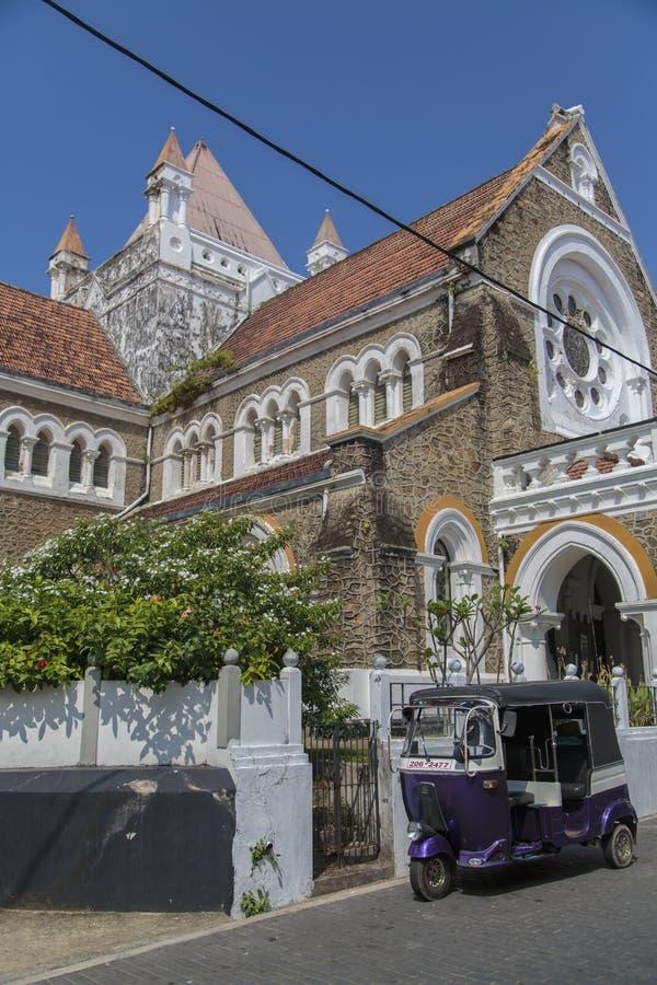All anglikansk kyrka för helgon i Galle, Sri Lanka royaltyfri foto