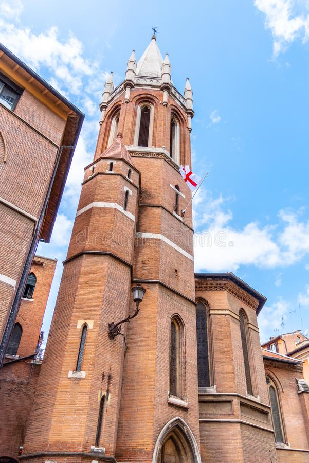 All anglikansk kyrka f?r helgon i Rome, Italien royaltyfri fotografi