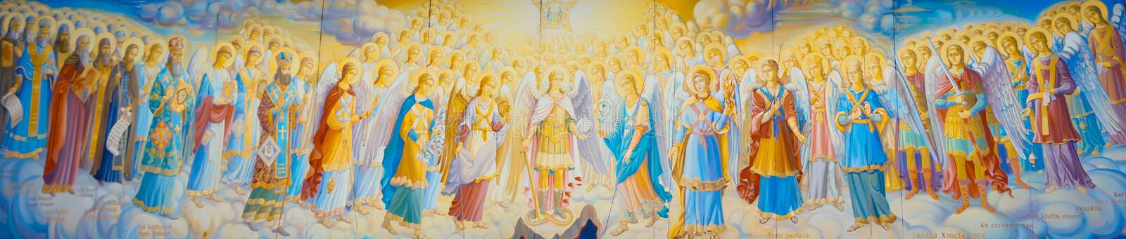 All archangels and saints. All the saints and archangels. Suitable for painting, murals, wall picture, or for site royalty free stock images