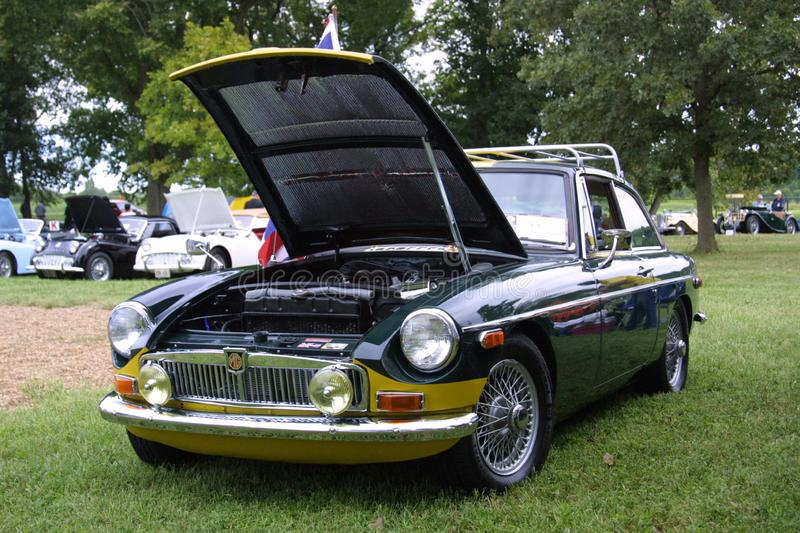 All British Carshow Creve Couer Lake 2018. This MGB GT belongs to a car club member Mr. Ackerman. I have taken several photos of this project and this is a very royalty free stock image