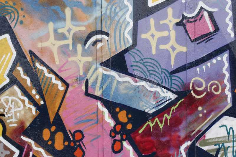 All colored graffiti royalty free stock image