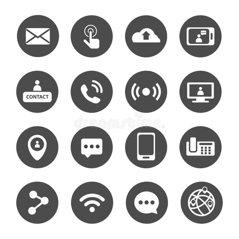 All of communication and technology icon set. All of communication and technology icon collection set stock illustration