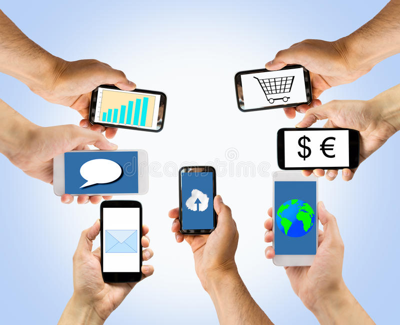 All connected stock image