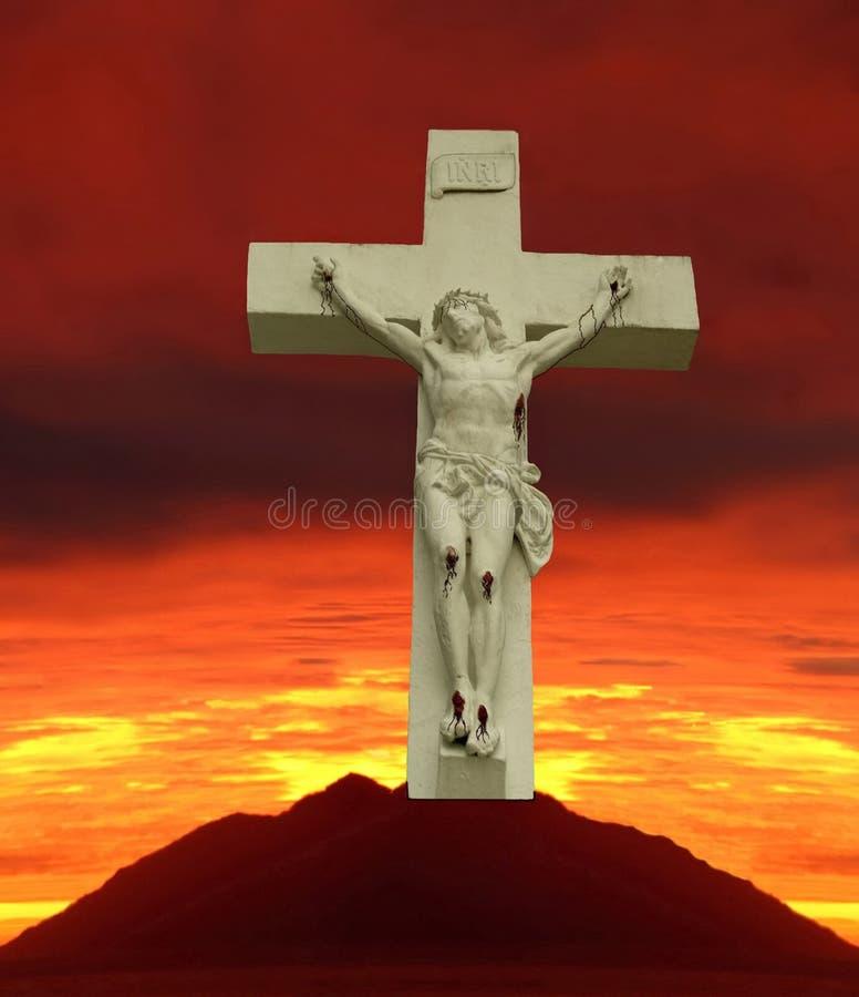 all crusified golgotha jesus ransom royaltyfri illustrationer