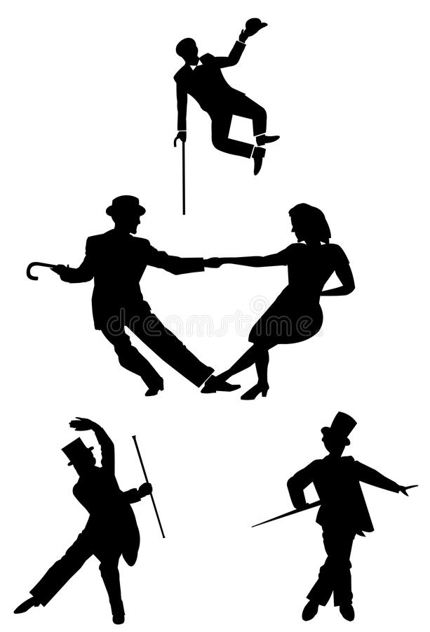 All about dance style royalty free illustration