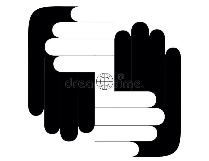 all din handvärld vektor illustrationer