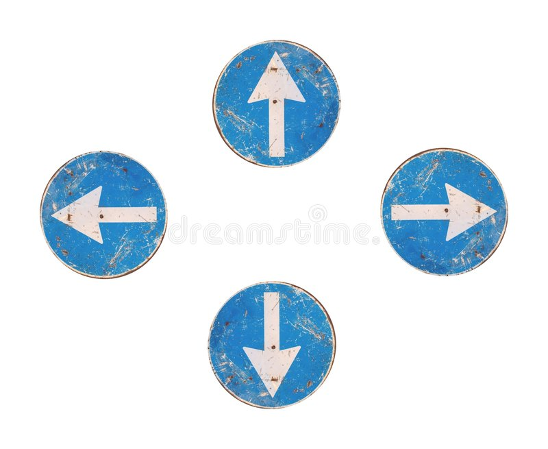 All directions arrows. Road signs, all directions arrows stock photos