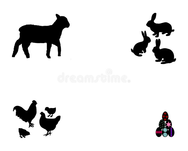Download All about easter stock vector. Illustration of lamb, eggs - 8164392