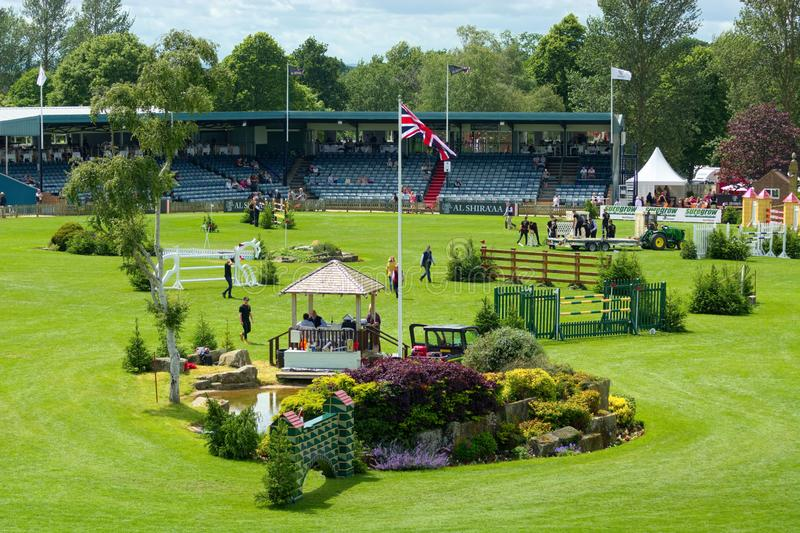 All England Showjumpingkurs, Hickstead, Sussex UK arkivfoton
