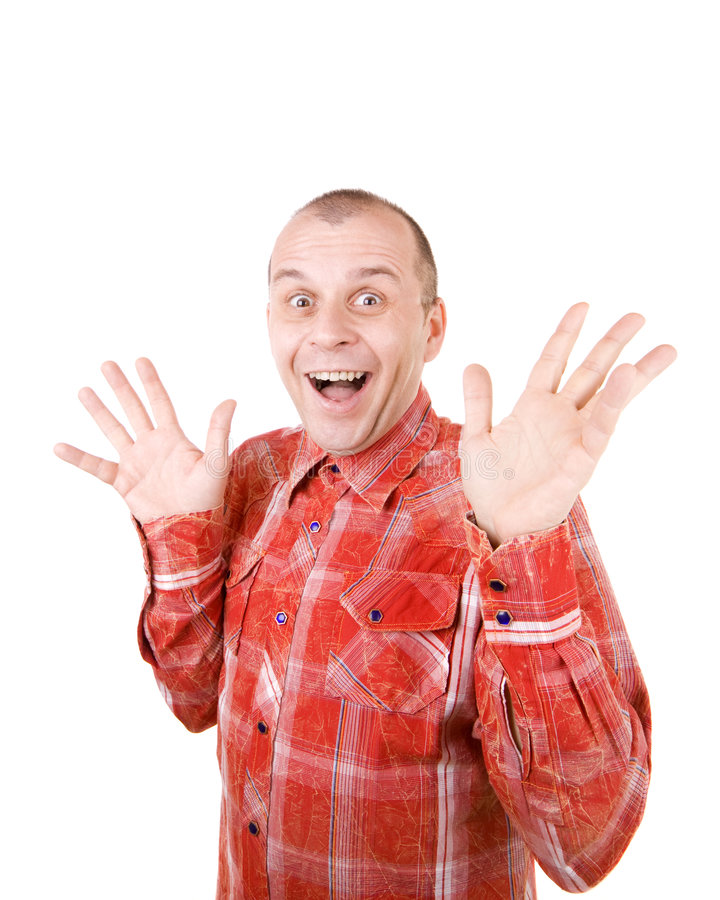 Download All excited! stock photo. Image of humor, male, white - 7999524