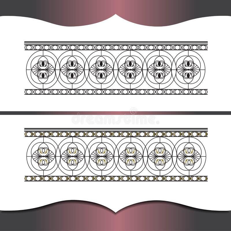 all för elementfunktionen för den detaljerade teckningen höjd för ramen för smidet genomförde vektorn för originalen för increase vektor illustrationer