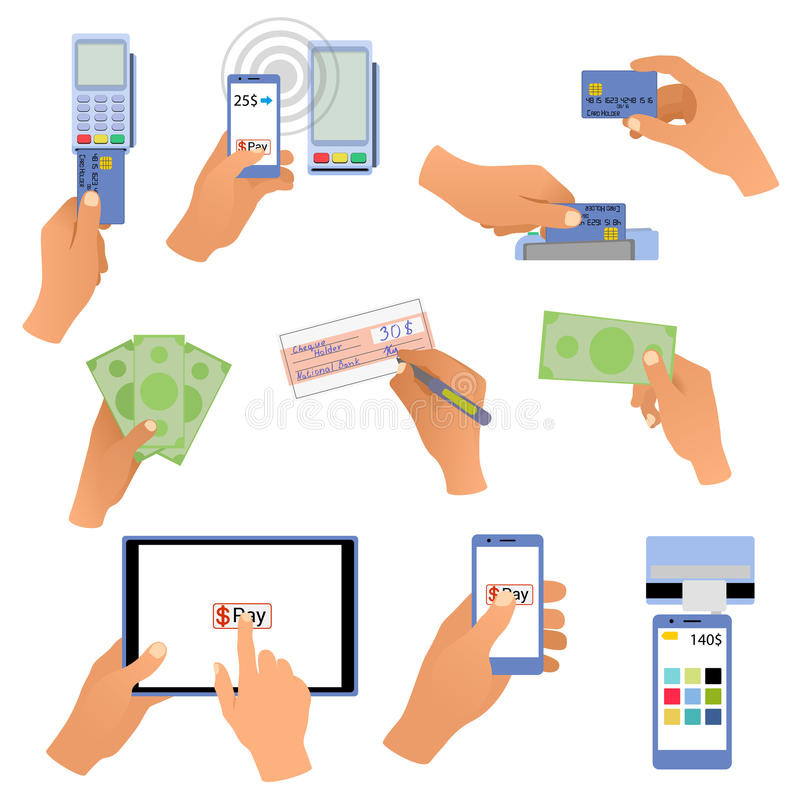 Free All For Business Payments Human Hands Holding Stock Image - 46967071