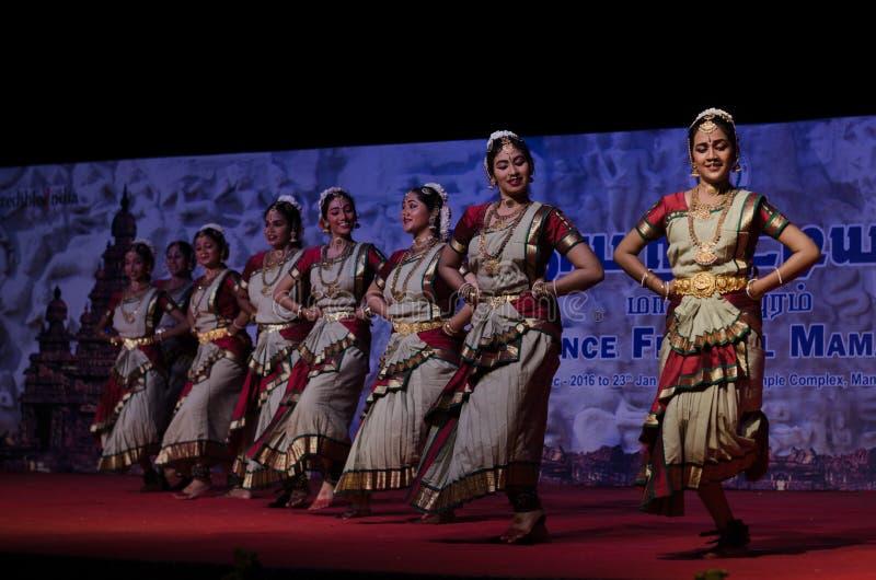 Bharathanatyam dance performance at mahabalipuram stock photo