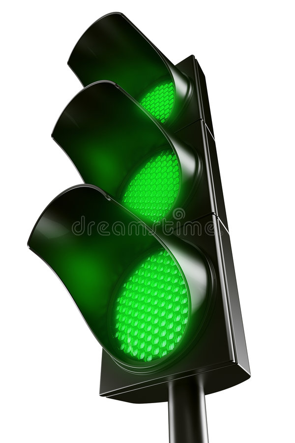Free All Green Traffic Light Royalty Free Stock Image - 7013026