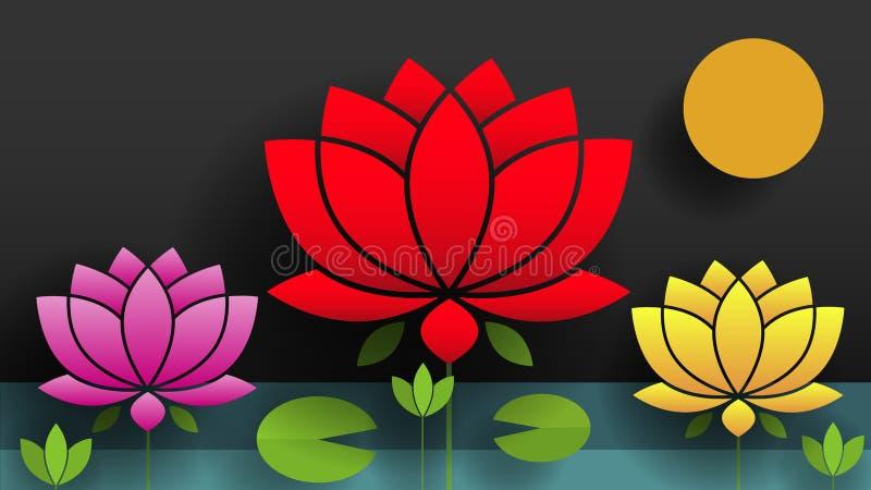 all härlig bouganvillablomma dess paper taggar Lotus Naturvektorillustration för din behov och design royaltyfri illustrationer