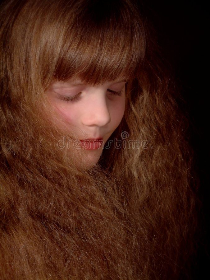 All hair (and a little face) stock photo