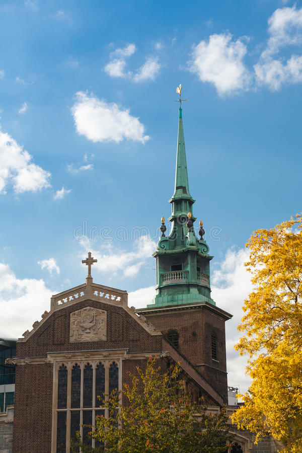 All Hallows by the Tower Church stock photography