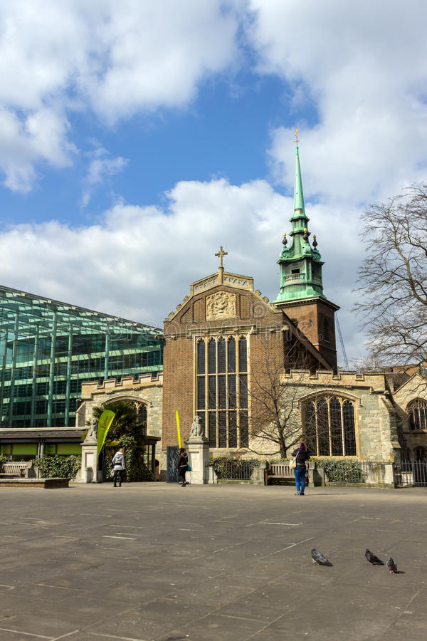 All Hallows By The Tower stock photo