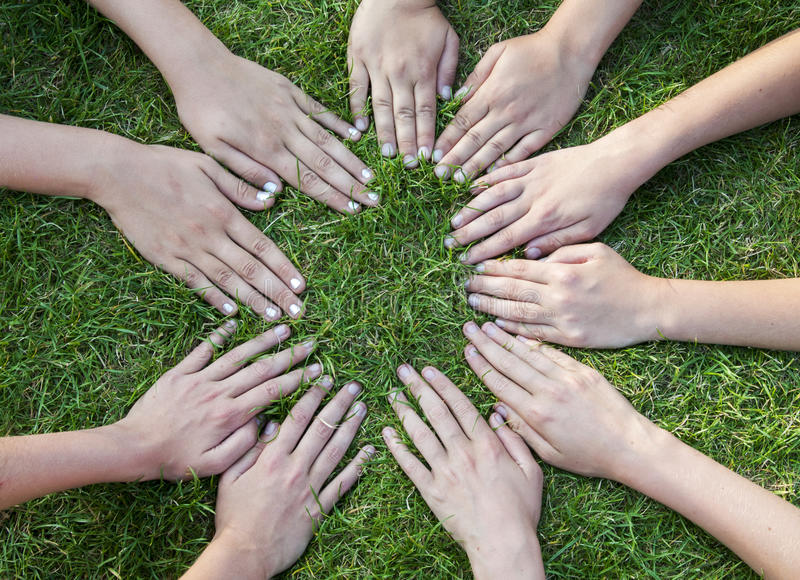 Download All hands together stock image. Image of gesture, chilldren - 26539197