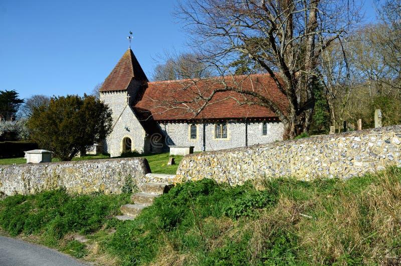 All helgonkyrka, västra dekan, East Sussex UK arkivfoto