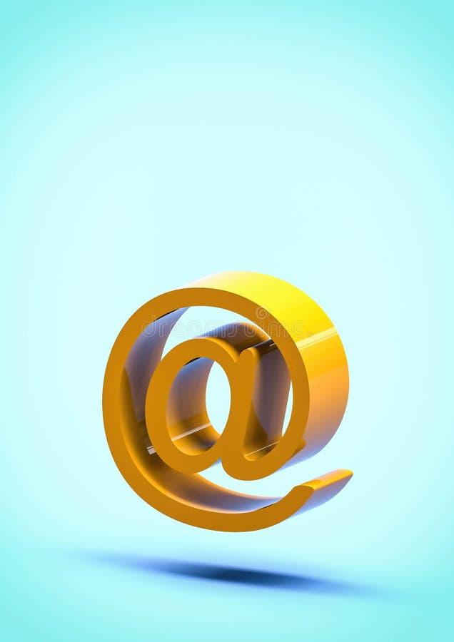 all'illustrazione del segno 3d del email royalty illustrazione gratis