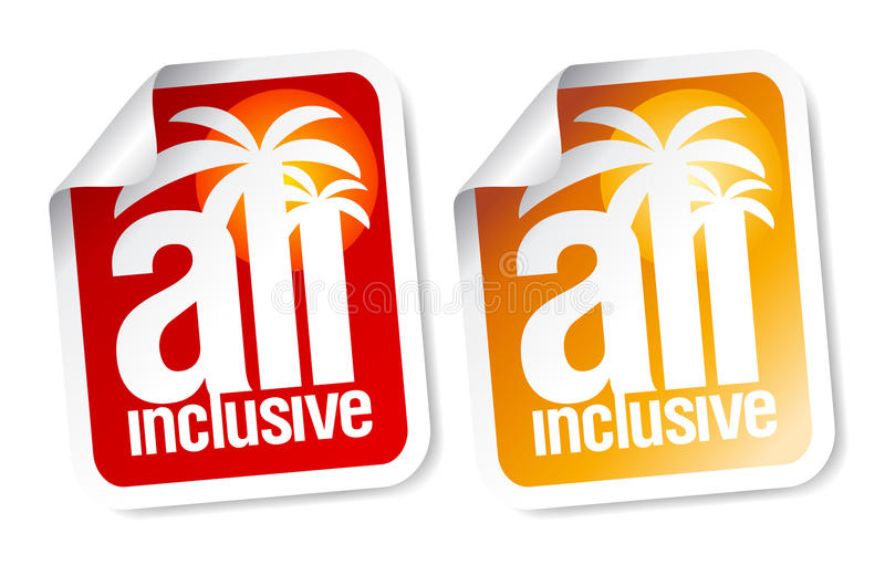 Download All inclusive labels. stock vector. Illustration of button - 19416877