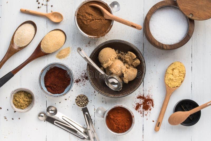 All American BBQ Rub Ingredients stock photos