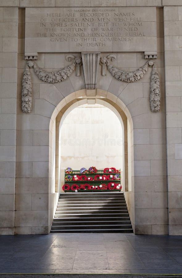 All'interno del cancello di Menin in Ypres fotografia stock libera da diritti