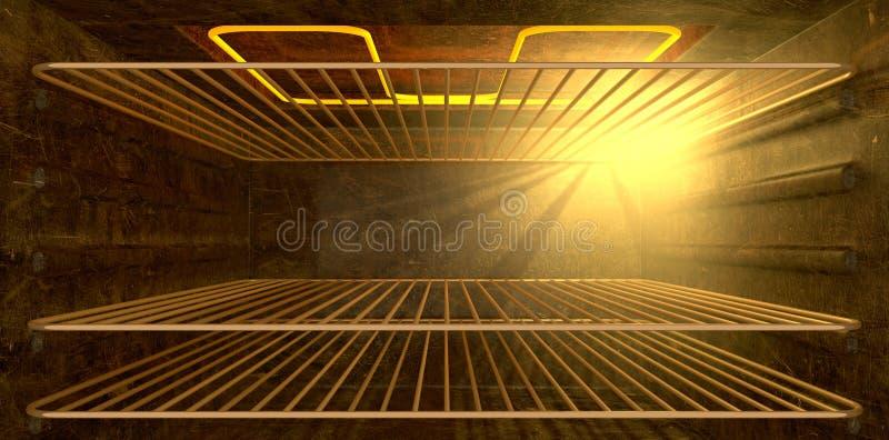 All'interno del forno illustrazione di stock