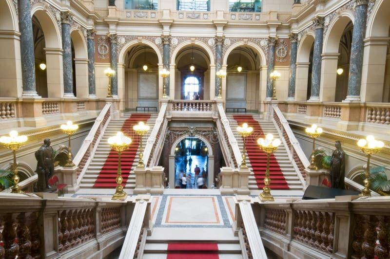 All'interno del Museo Nazionale a Praga immagini stock