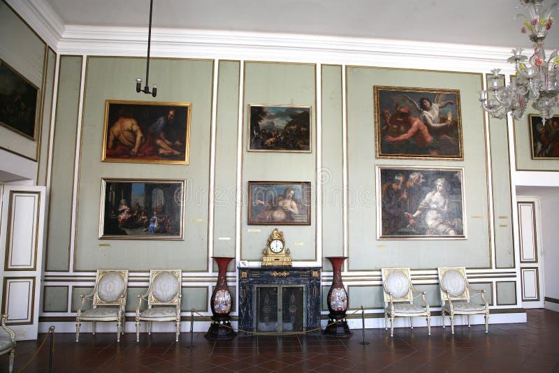 All'interno del palazzo di Rectorâs a Dubrovnik. Il Croatia. fotografie stock