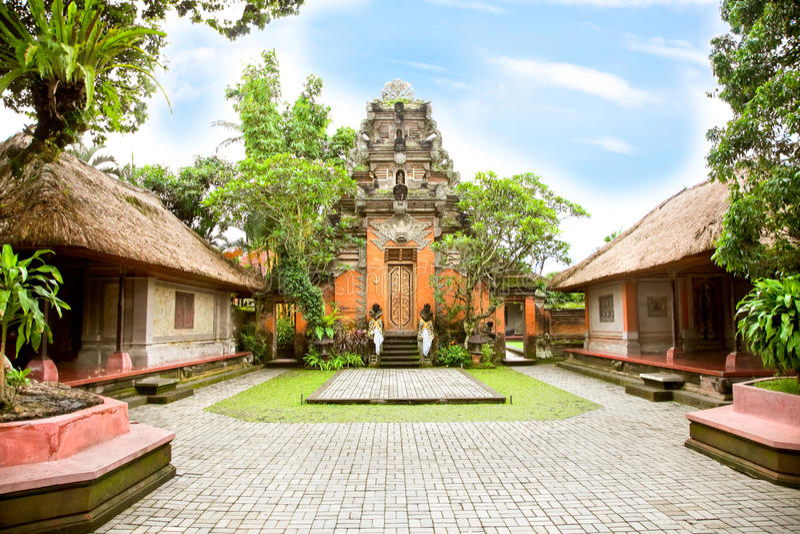 All'interno del palazzo di Ubud, Bali immagine stock