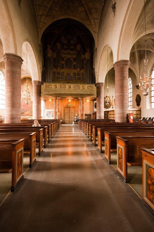 All'interno della chiesa. fotografia stock libera da diritti