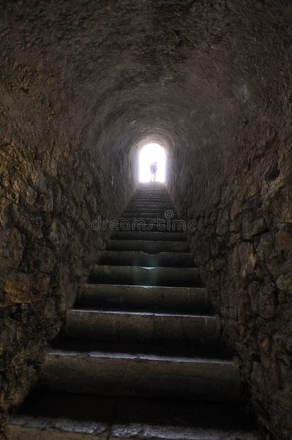 All'interno della cittadella di Briançon, alpi francesi immagini stock