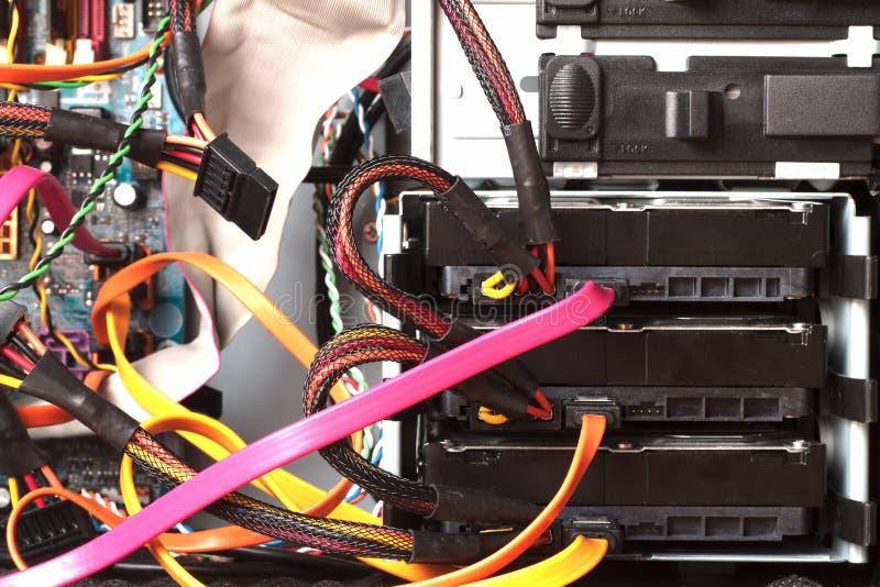 All'interno di con computer personale fotografie stock libere da diritti