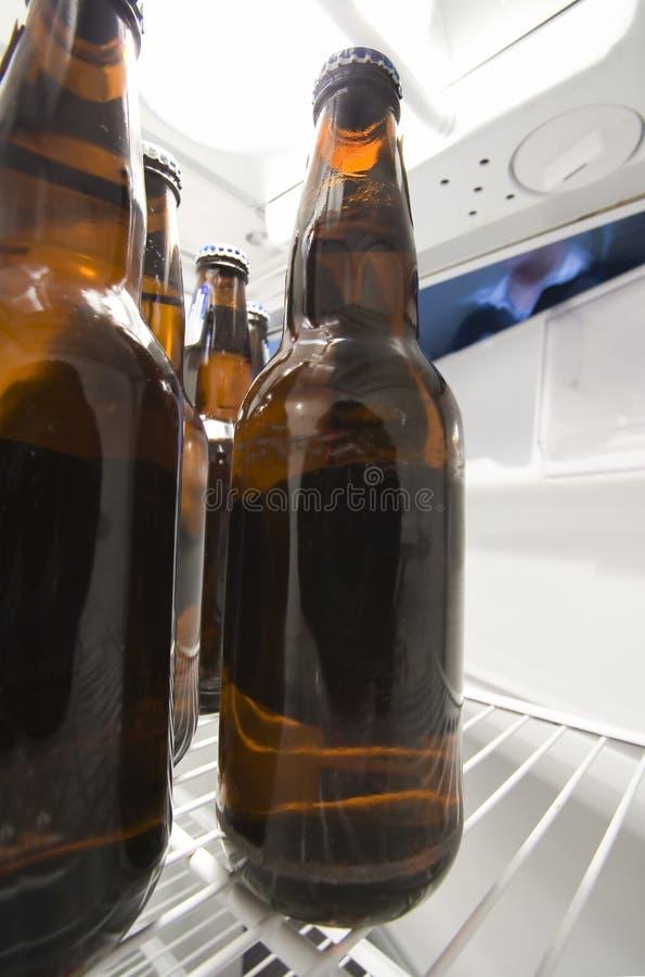 All'interno di un frigorifero fotografia stock