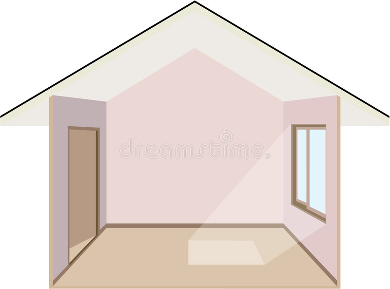 All'interno di una casa illustrazione vettoriale