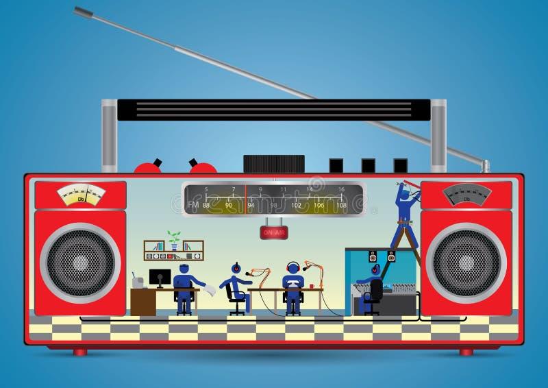 All'interno di una radio royalty illustrazione gratis
