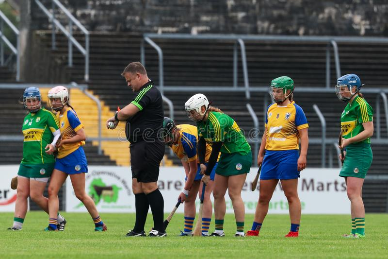 All-Irland premiärminister Junior Championship Semi-Final mellan länet Clare och länet Kerry arkivbilder