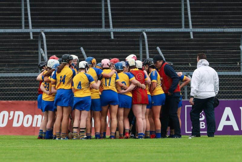 All-Irland premiärminister Junior Championship Semi-Final mellan länet Clare och länet Kerry arkivfoto