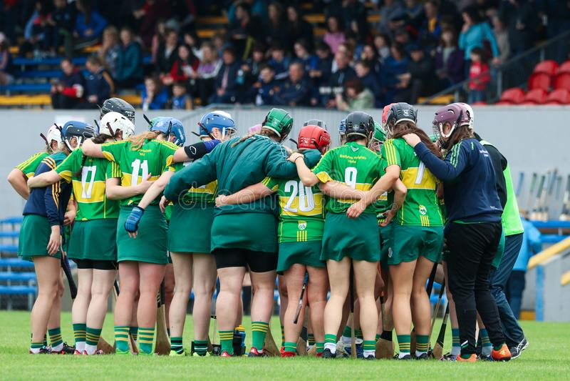 All-Irland premiärminister Junior Championship Semi-Final mellan länet Clare och länet Kerry arkivfoton